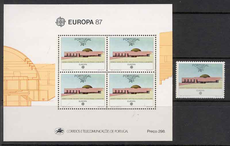 Azores 1987 EUROPA + MS MUH Lot7391