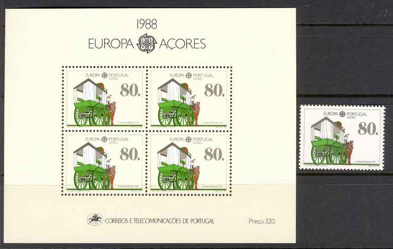 Azores 1988 EUROPA + MS MUH Lot7393