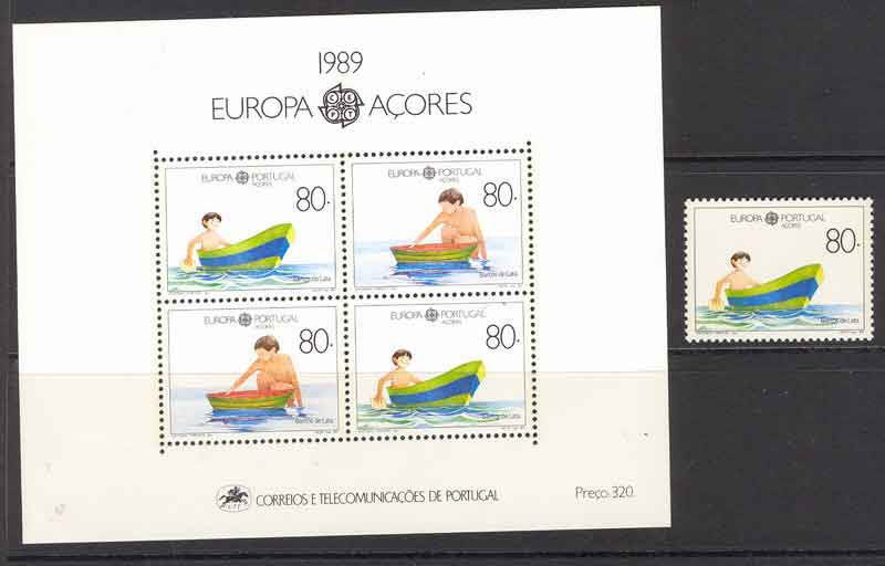 Azores 1989 EUROPA + MS MUH Lot7395