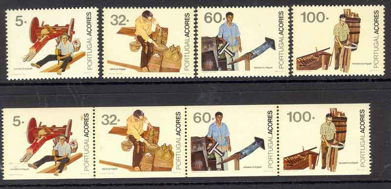 Azores 1990 Professions + Booklet Pane MUH Lot7399