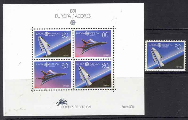 Azores 1991 EUROPA + MS MUH Lot7401