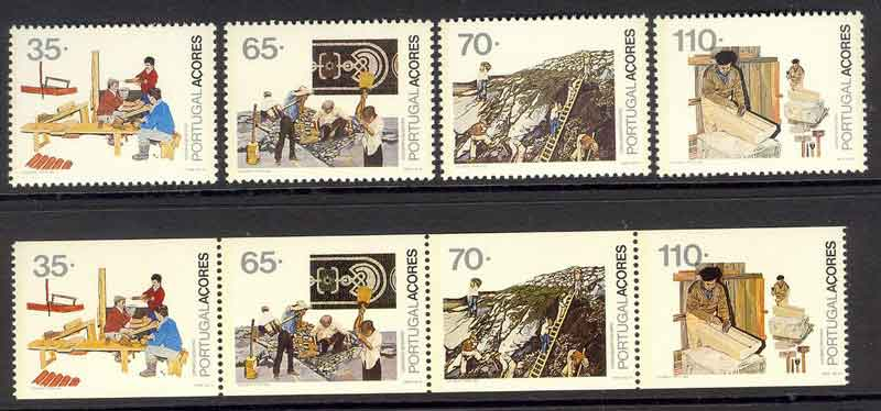 Azores 1992 Professions + Booklet Pane MUH Lot7402