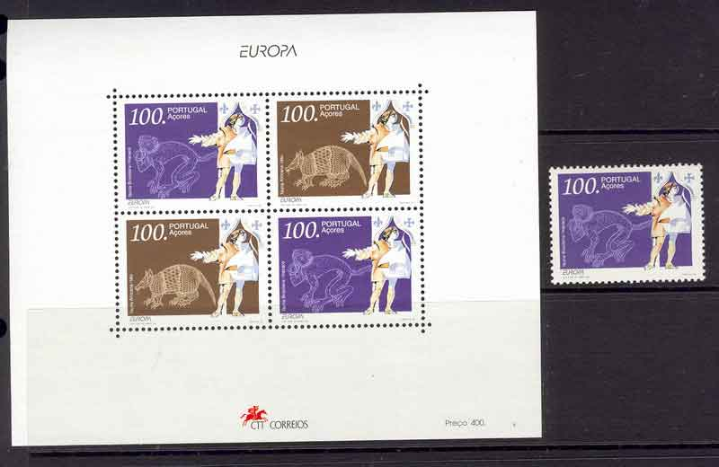 Azores 1994 EUROPA + MS MUH Lot7411