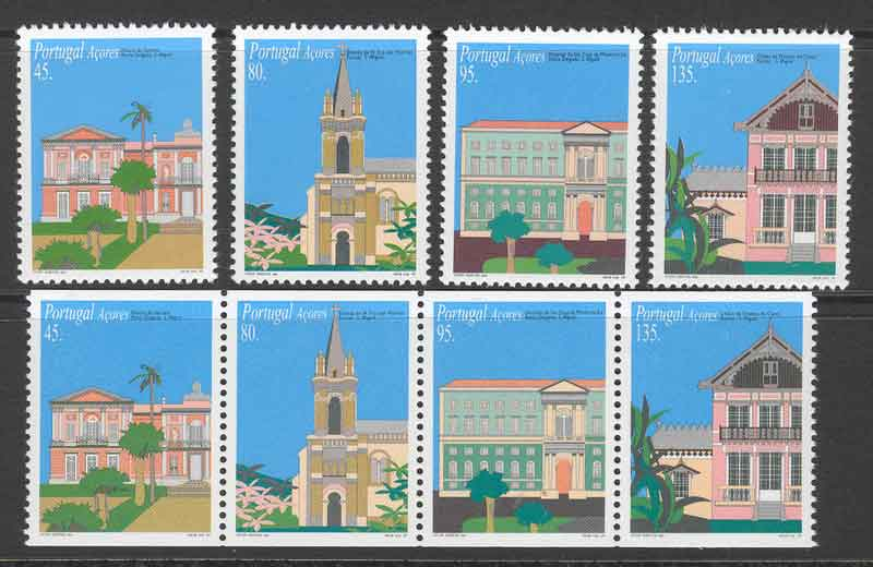 Azores 1995 Architecture + Booklet Pane MUH Lot7414