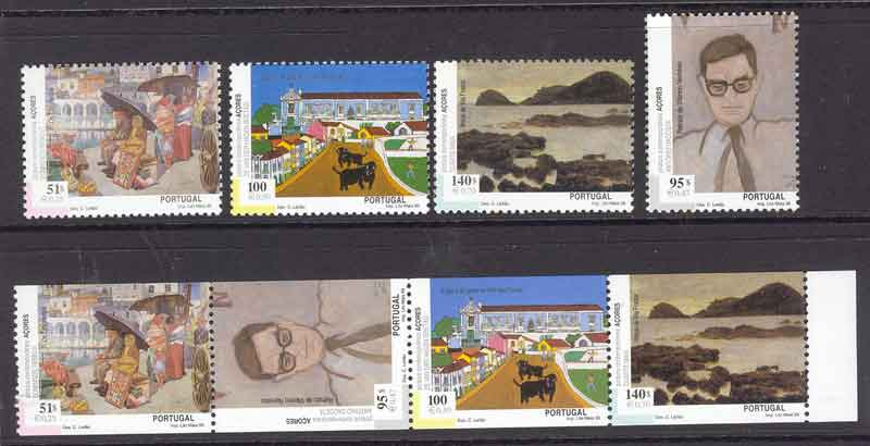Azores 1999 Paintings + Booklet Pane MUH Lot7422