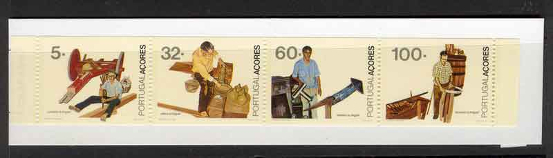 Azores 1990 Professions Booklet MUH Lot7424