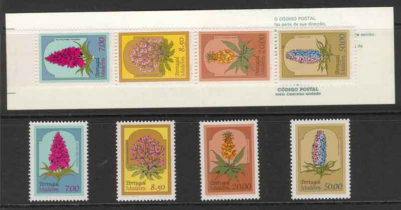 Madeira 1981 Local Flora + Booklet MUH Lot7432