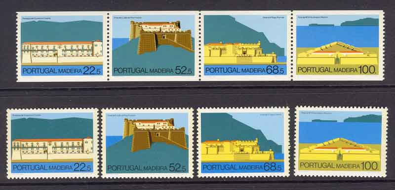 Madeira 1986 Forts + Booklet Pane MUH Lot7445
