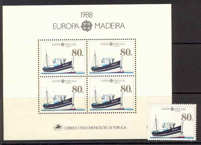 Madeira 1988 EUROPA + MS MUH Lot7451