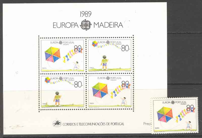 Madeira 1989 EUROPA + MS MUH Lot7452