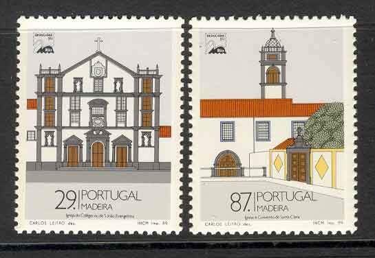 Madeira 1989 Monuments MUH Lot7453