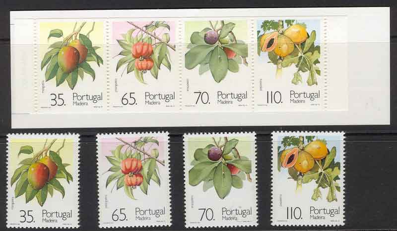 Madeira 1991 Fruit + Booklet MUH Lot7459