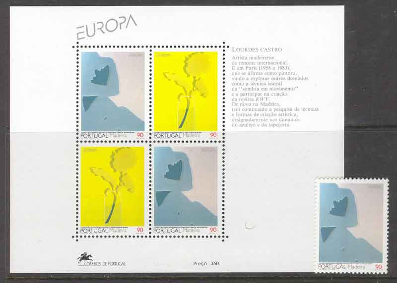 Madeira 1993 EUROPA + MS MUH Lot7464