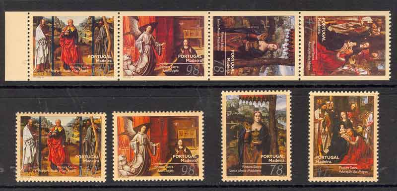 Madeira 1996 Flemish Paintings + Booklet Pane MUH Lot7472