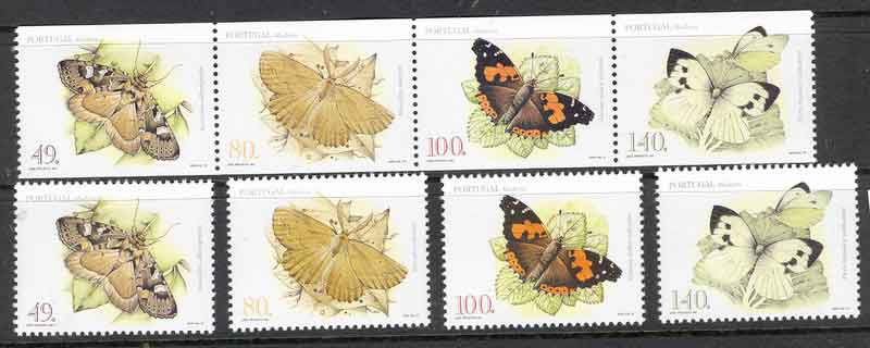 Madeira 1997 Moths Butterflies + Booklet Pane MUH Lot7474