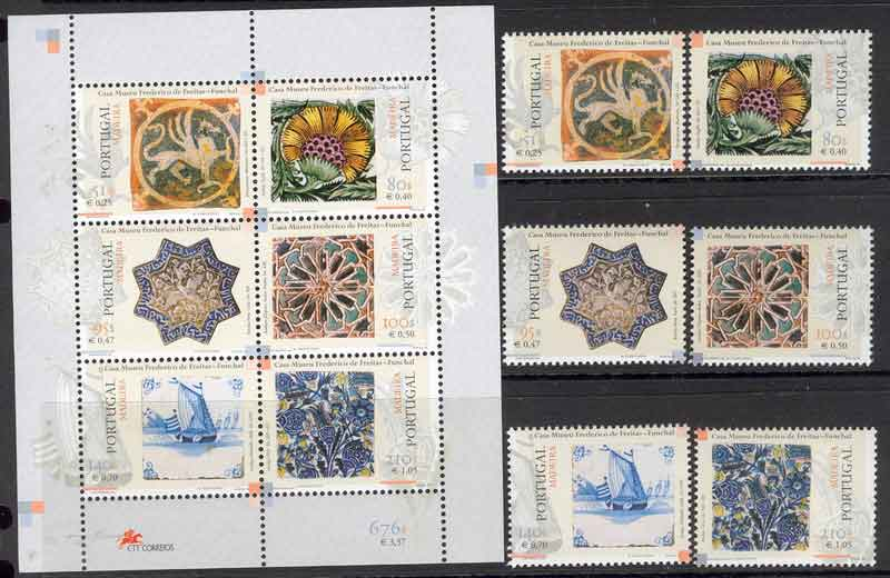 Madeira 1999 Tiles + MS MUH Lot7478