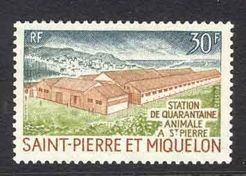 St. Pierre & Miquelon 1970 30f Animal Quarantine MUH Lot7642
