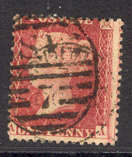 "GB 1854 1d Red Perf14 Wmk4 DieII ""AA"" sg29 Lot7727"