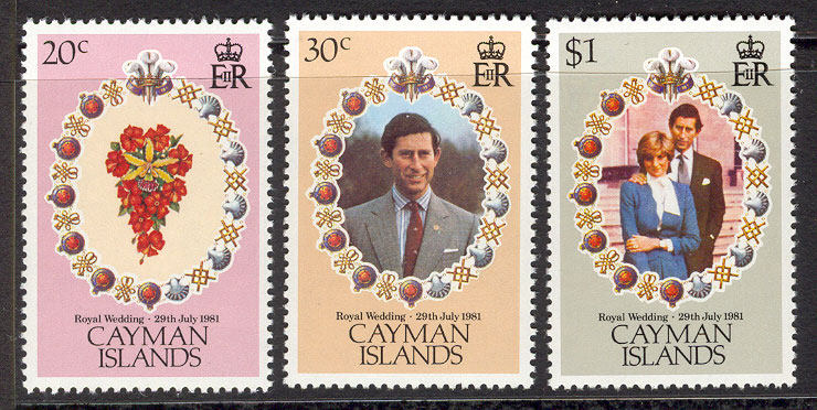 Cayman Is 1981 Diana Royal Wedding MUH Lot7762