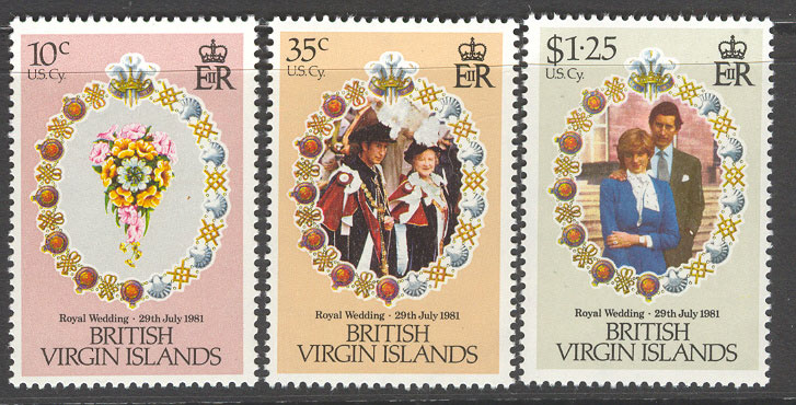 Virgin Is 1981 Diana Royal Wedding MUH Lot7763