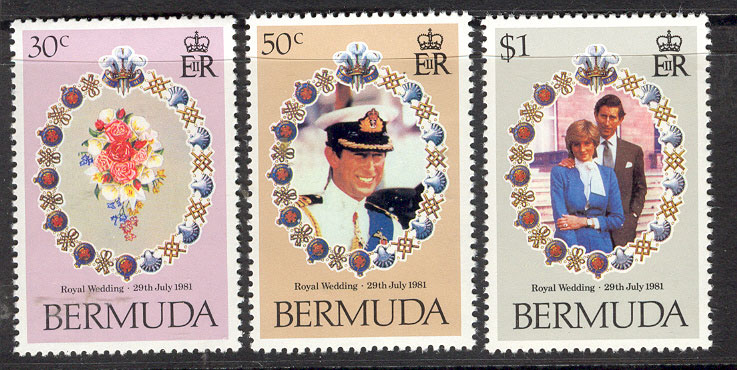 Bermuda 1981 Diana Royal Wedding MUH Lot7764