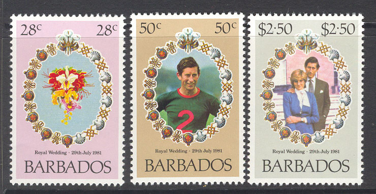 Barbados 1981 Diana Royal Wedding MUH Lot7765