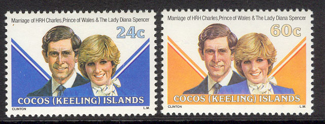 Cocos Keeling Is 1981 Diana Royal Wedding MUH Lot7768