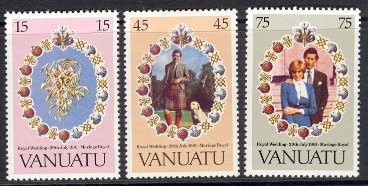 Vanuatu 1981 Diana Royal Wedding MUH Lot7771