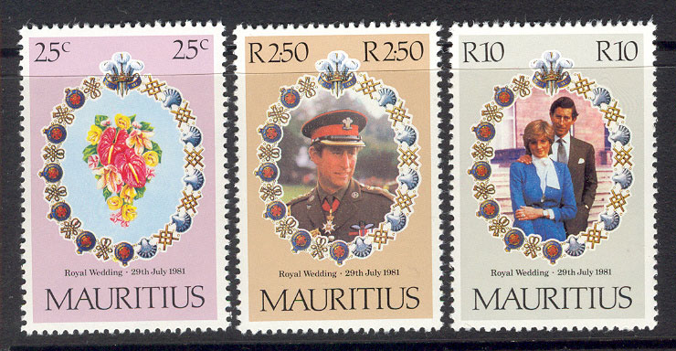 Mauritius 1981 Diana Royal Wedding MUH Lot7775
