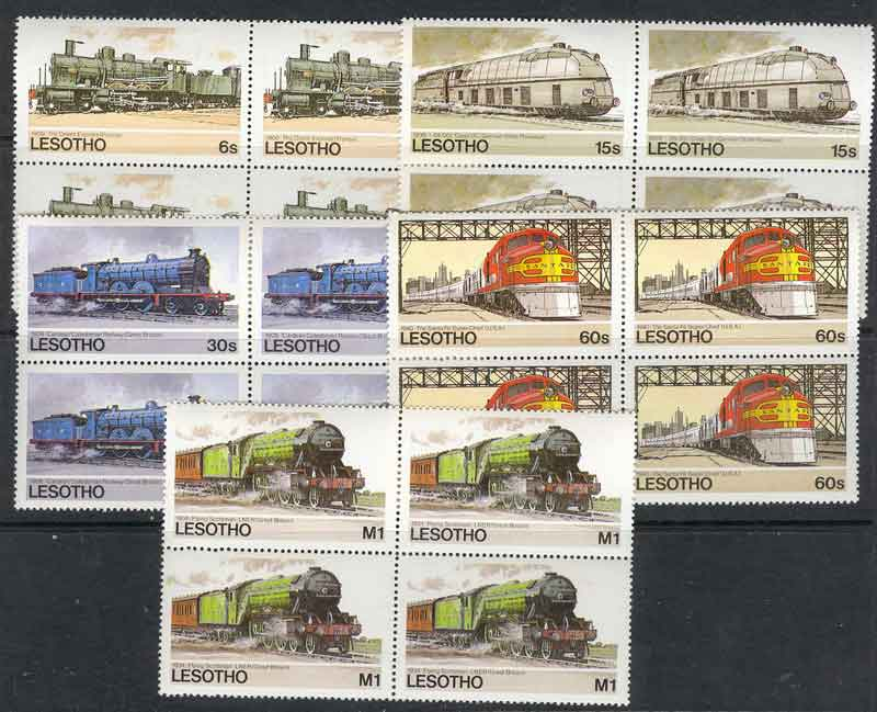 Lesotho 1984 Trains Block MUH Lot7788
