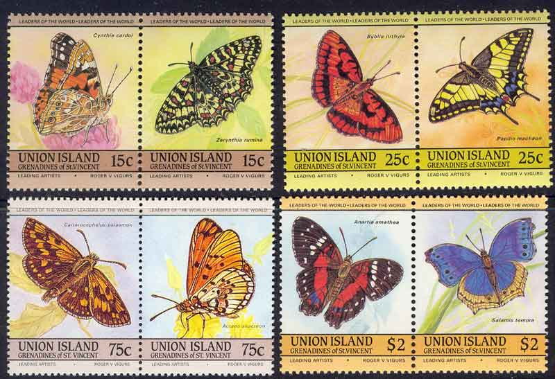 Union Is 1985 Butterflies MUH Lot7791