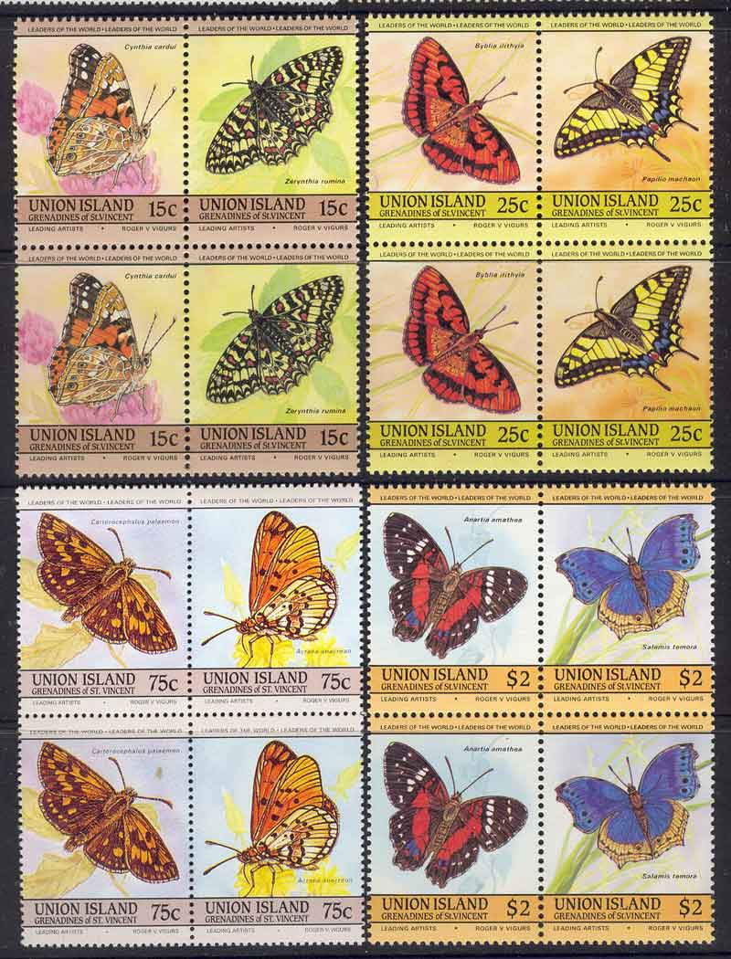 Union Is 1985 Butterflies Pair MUH Lot7792