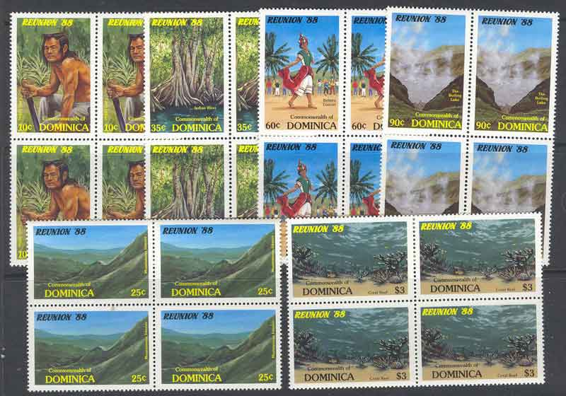Dominica 1988 Tourism Blocks MUH Lot7806