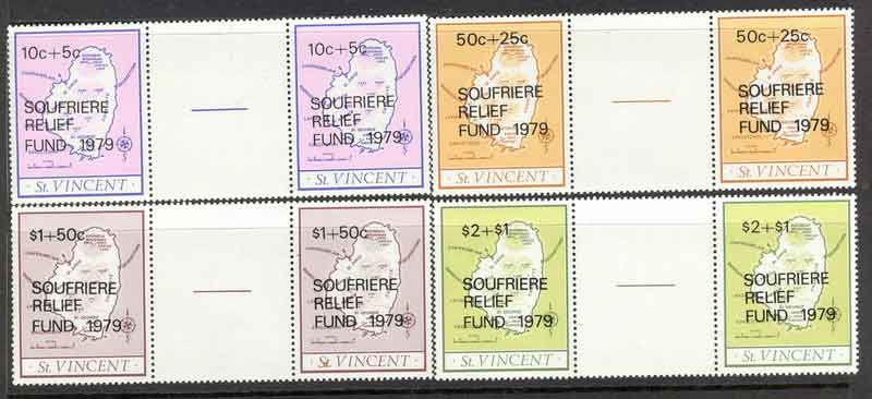 St Vincent 1980 Mt Soufriere Eruption Pairs MUH Lot7818