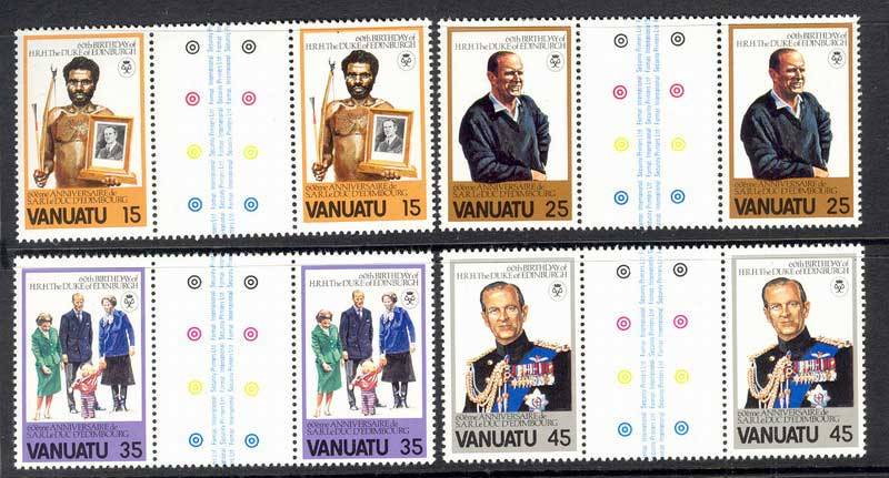 Vanuatu 1981 Duke of Edinburgh Pairs MUH Lot8185