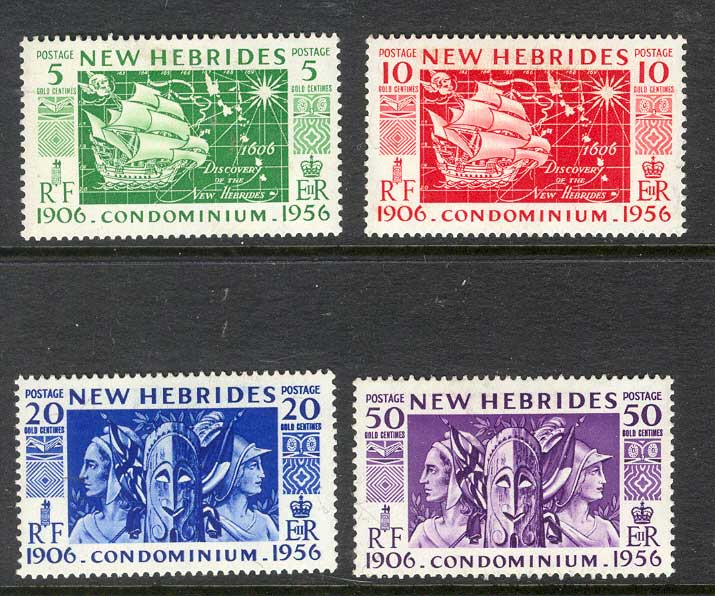 New Hebrides (Br) 1956 Aglo French Condo MLH Lot8205