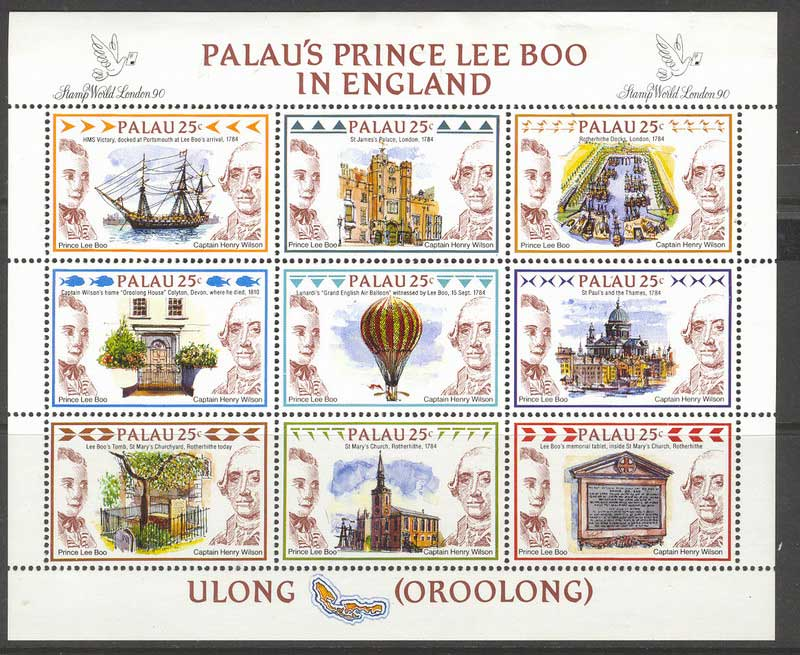 Palau 1990 Prince Lee Boo MS MUH Lot8297