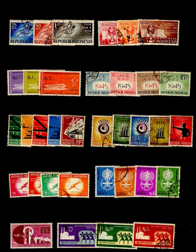 Indonesia 1960s Used Selection Lot8411