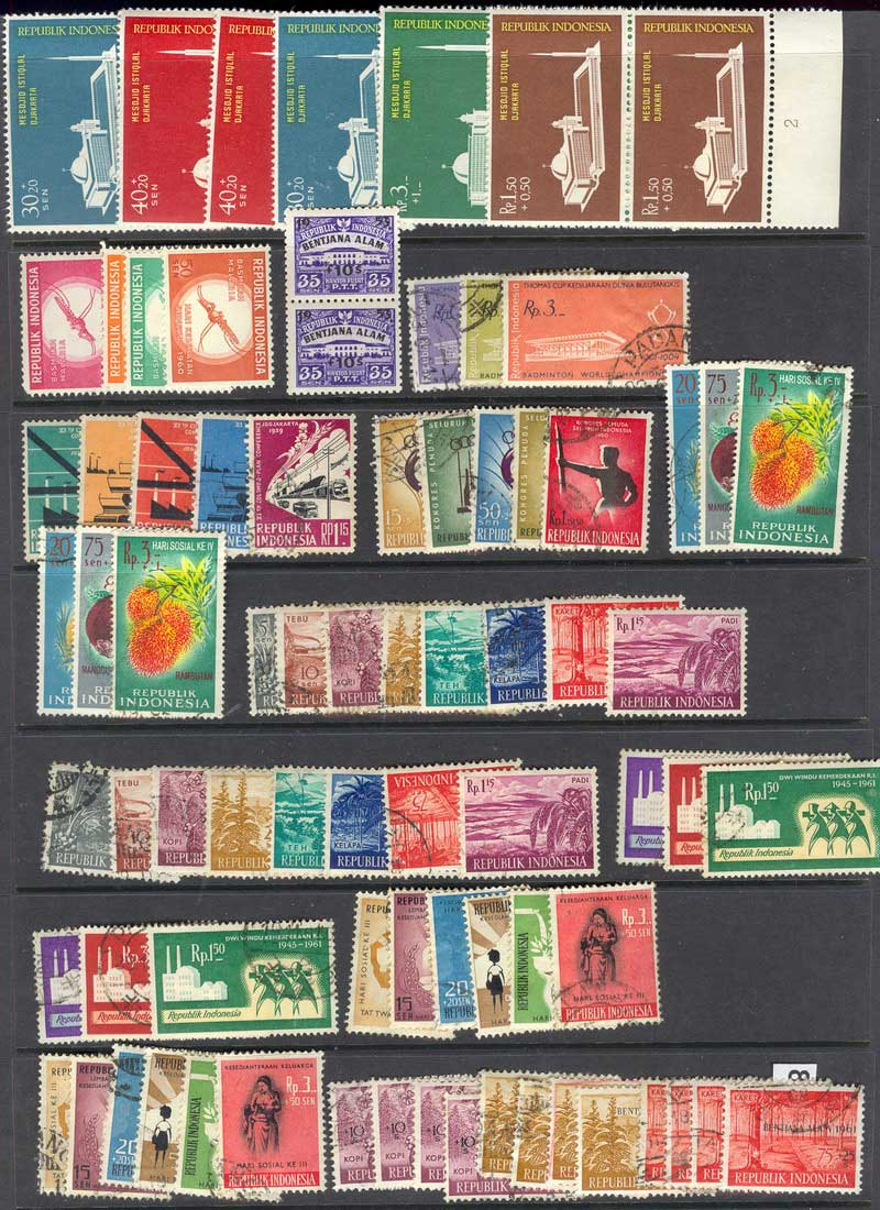 Indonesia 1960s Used Selection Lot8413