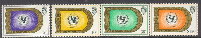 Dominica 1971 UNICEF MUH Lot8542