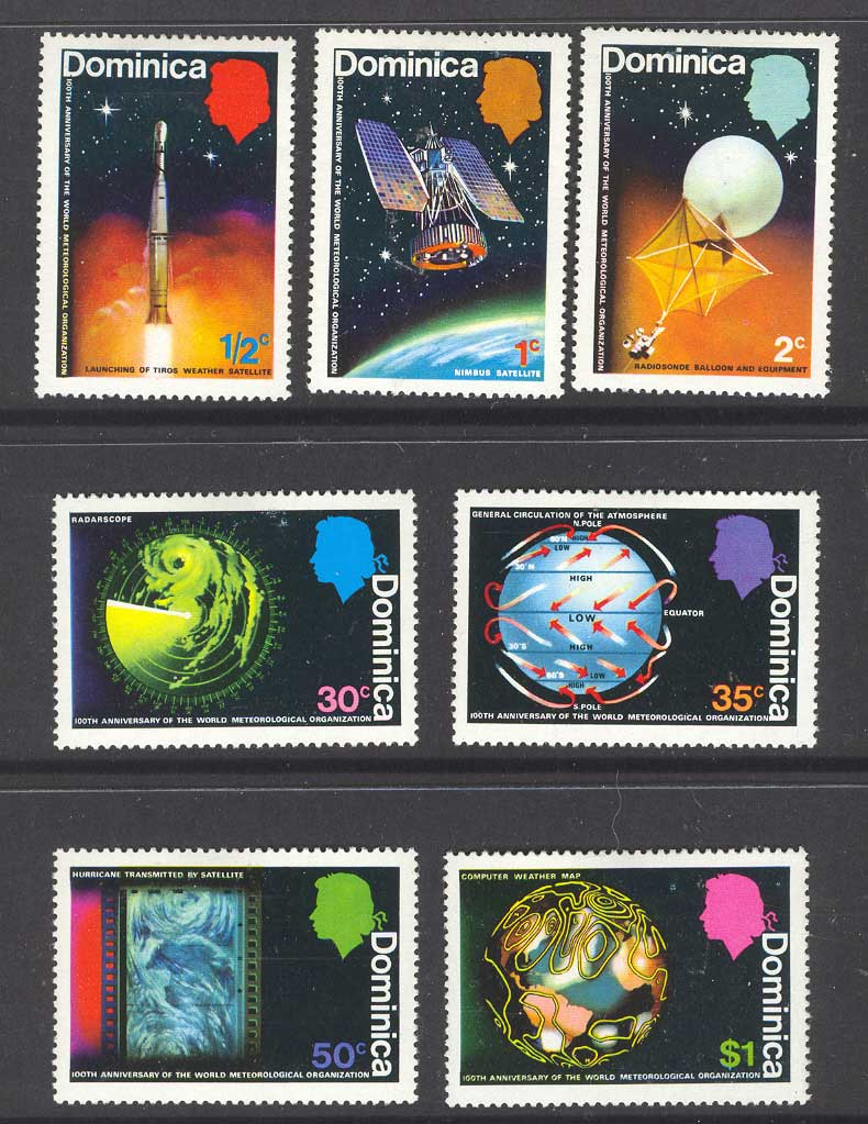 Dominica 1973 Meterology MLH Lot8551