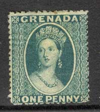 Grenada 1873 1d blue green sc#6 Used Lot8570