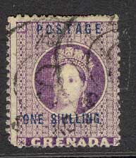 Grenada 1875-81 1/- purple FU Lot8574