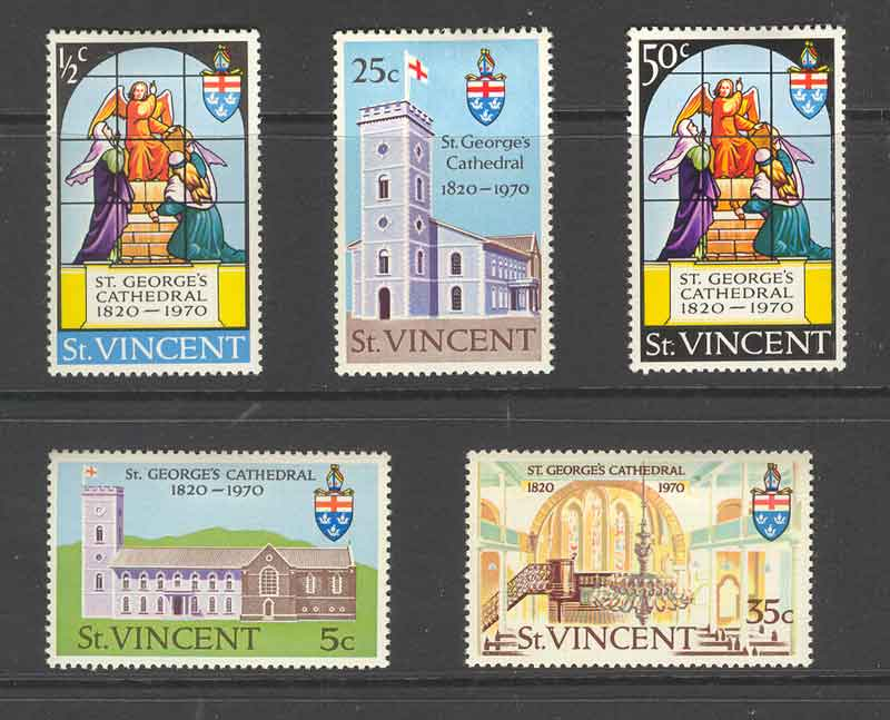 St Vincent 1970 St Georges Cathederal MLH Lot9322 - Click Image to Close