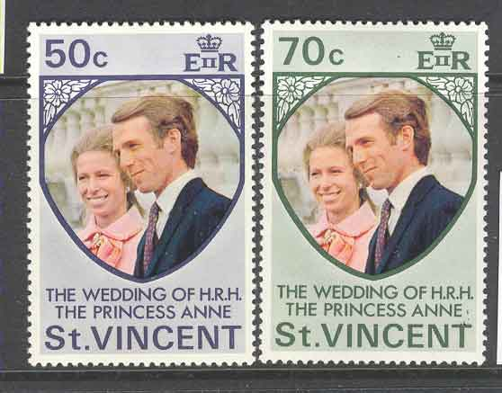 St Vincent 1973 Royal Wedding Anne & Mark MLH Lot9336