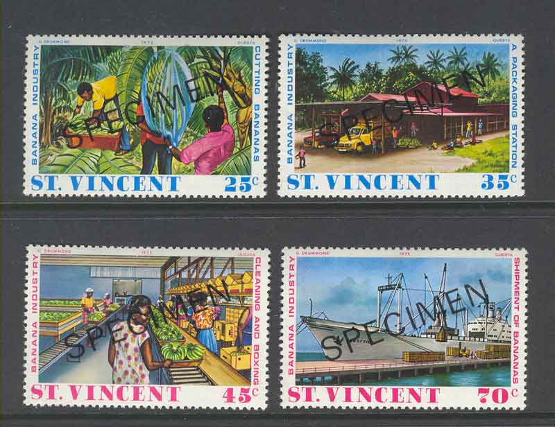 St Vincent 1975 Banana Industry SPECIMEN MLH Lot9346