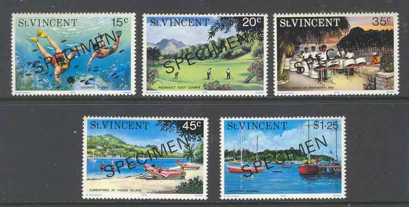 St Vincent 1975 Tourism SPECIMEN MUH Lot9347