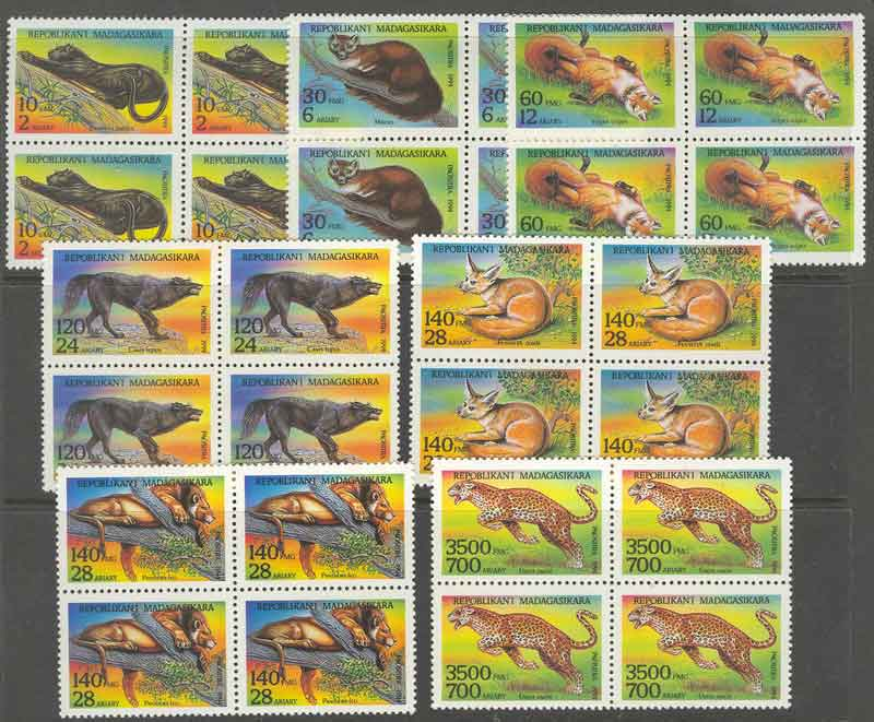Madagascar 1995 Wild Animals Block MUH Lot9380