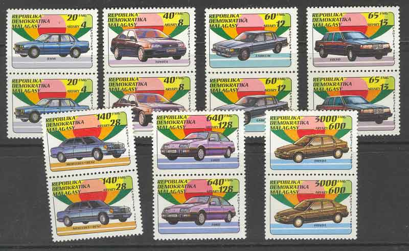 Madagascar 1993 Automobiles Pairs MUH Lot9393 - Click Image to Close
