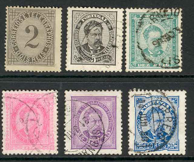Portugal 1882 -87 Asst (6) MH/ FU Lot9413